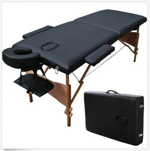 """New 84"""" Long Black Portable Massage Table Facial Salon SPA Tattoo Bed Carry Case"""
