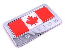 Canada Edition Chrome Emblem  Canadian flag 3D decal Car bike  Badge