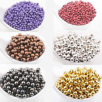 Hot 20-200Pcs 3-8 mm Silver Gold Plated Metal Loose Spacer Round Bead Making DIY