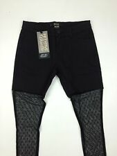Diesel Brand New Women's Premis Jeans With Lace Size W30 Color Black