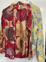 Robert Graham Men's Shirts Size XL LOT of 2 Button Down Long Sleeve Print