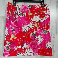 Women's Size 8 Pencil Skirt with Ruffle  Cato Pink Red Floral  NWT NEW