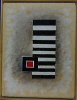 """Rudolf Ortner """"Konstruktive Komposition W - 84-38 - Gitter"""" Öl"""