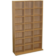 PIGEON HOLE OAK 588 CD 378 DVD Storage Unit MS0652