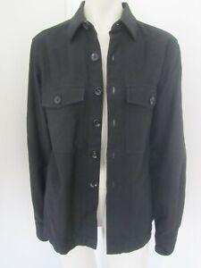 New Season  TOM FORD Black Cotton Twill Over-shirt Jacket - 39