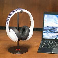 Solid Base Stainless Desktop Headphones Stand for Beats & Bose Vinyl Black Steel