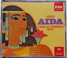 VERDI - AIDA - CD - (Caballe - Domingo - Muti) - 3 Discs - BRAND NEW
