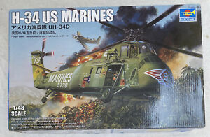 Trumpeter 02881 1/48 H-34 US MARINES Helicopter Plastic Model Kit 2020