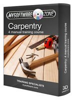 Learn Carpentry 4 Manual Training Course CD Woodwork Woodworking & Joinery Book