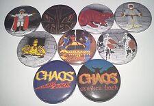 9 Dungeon Master Chaos Strikes back pin badges 25mm Amiga 500 Atari ST FTL