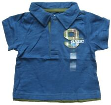 PLACE Baby-Shirt Blau Gr. 3-6 Monate