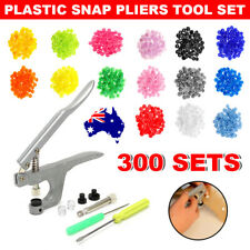 Hot Snap Pliers 300 Sets T5 Size Snaps Resin Plastic Poppers Fastener Button AU