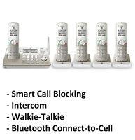AT&T TL96487 DECT 6.0 5-Handset Cordless Phone System - Call Block & Intercom