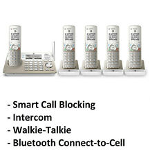 AT&T TL96487 DECT 6.0 5-Handset Cordless Phone System - Call Block & Intercom