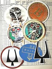 Vintage Bulova Accutron Spaceview Tuning Fork design logo vinyl decal stickers