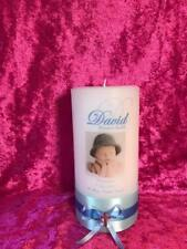 Personalised Candle Wedding Anniversary Christening Baptism Naming Memorial