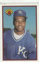 FREE  SHIPPING-MINT-1989 Bowman Danny Tartabull #128 ROYALS PLUS BONUS CARDS
