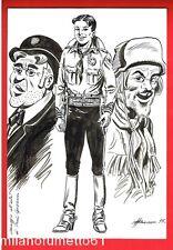 Capitan Miki Salasso e Doppio Rhum Illustrazione Originale 21 x 30 firmata