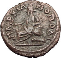 SEPTIMIUS SEVERUS 193AD Marcianopolis Authentic Ancient Roman Coin CYBELE i65012