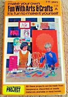Make Your Own Fun With Arts & Crafts Young Readers Project Cards 1970