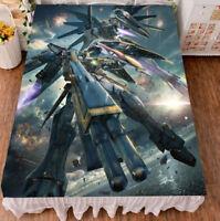 Anime GUNDAM Flano/Micro Fiber Blanket Bedsheet Bedding Coverlet 150*200cm #T43