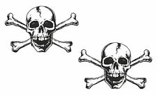 2x Skull Stickers for Motorcycle Gas Tank Car Bumper Helmet Fridge Laptop #23