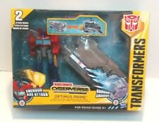Transformers OPTIMUS PRIME Battle Base Trailer cyberverse Energon Axe Attack NEW