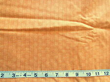 100% Cotton Fabric Darker Orange with Lighter Orange Long Ovals Designs All Over