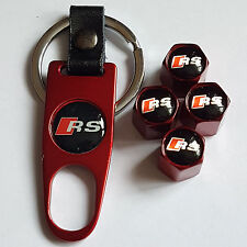 AUDI RS RED DUST VALVE CAPS AND SPANNER LIMITED ALL MODELS BOXED TT R8