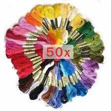 6 Premium Algodón Cross Stitch 8m hilo de bordar Madejas más exigentes de color