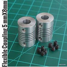 Aluminium Flexible Coupling Coupler Helical Shaft Couplings 5mm*8mm*25mm (2Pcs)