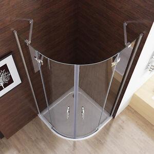 Duschkabine Runddusche Duschabtrennung Dusche Echtglas Viertelkreis 90x90 80x80