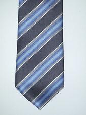 WALBUSCH - hochwertige Krawatte aus reiner Seide - Diagonalstreifen grau blau