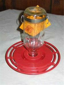 BEST-1 HUMMINGBIRD FEEDER with 8 oz. GLASS BOTTLE, Made in the USA           #dm