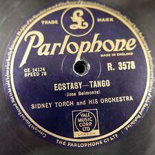 78 tr/min SIDNEY TORCH Ecstasy tango/L' heure de méditation