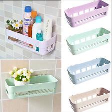 Plastic Suction Cup Kitchen Bathroom Corner Storage Rack Organizer Shower Shelf