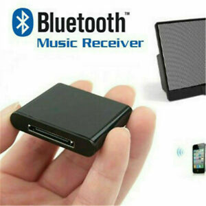 Bluetooth Music Receiver Audio Adapter for iPod iPhone 30 Pin Dock Speaker UK