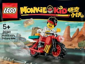 Official Lego Figure Monkie's Kid Delivery Bike polybag - 30341-1