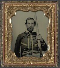 Photo Civil War Confederate Double Barrel Percussion Shotgun Colt Navy Revolver