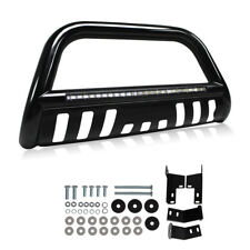 Led Bull Bar for 05-15 Toyota Tacoma Bumper Grille Guard + Integrated 72W Light