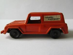 1970's MARX DELIVERY TRUCK ORANGE DIECAST TOY PLASTIMARX MEXICAN MADE IN MEXICO