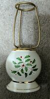 Lenox HOLIDAY Tea Light Candle Lamp BASE ONLY Christmas Holly and Berries