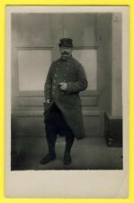 cpa Cachet URIAGE 1917 CARTE PHOTO MILITAIRE SOLDAT en UNIFORME du 14e Régiment