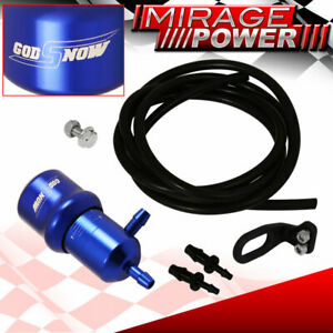 Universal Adjustable Racing Turbo 60 Psi Manual Boost Bypass Controller Kit Blue