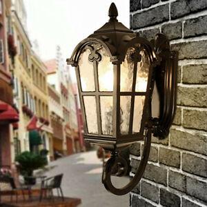 Glass Wall Light Outdoor Wall Sconce Garden Home Wall Lamp Black Indoor Lighting