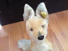 Vintage Steiff Xorry Desert Fox Has Button & Yellow Tag #3317