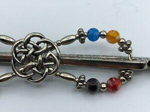 Lilla Rose Flexi8 Hair Clip - Silver, Multicolor -Celtic Knot -MEDIUM (#1943-44)