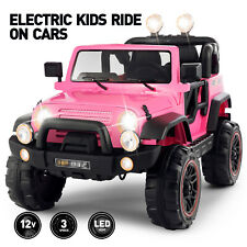 12V Electric Battery Kids Ride on Truck Car Toy LED MP3 Remote Control Gift Pink