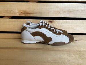 Salvatore Ferragamo Mens White Brown Shoes Sz. UK 7 US 8 EU 41