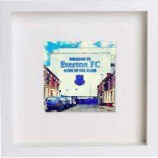 Watercolour Print of Everton Football Club, Goodison Park & 23x23cm Frame 38